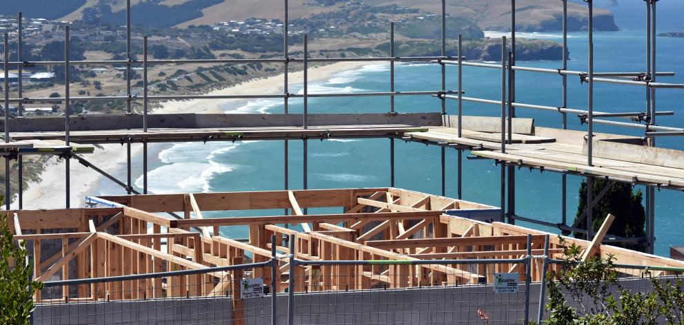 Dunedin building consents doubled in November. Photo: Gregor Richardson