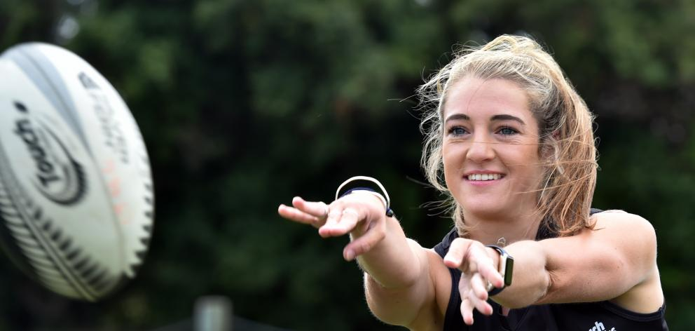 Touch Black Dayna Turnbull will return to competitive touch at the annual Cromwell tournament on Saturday. Photo: Peter McIntosh