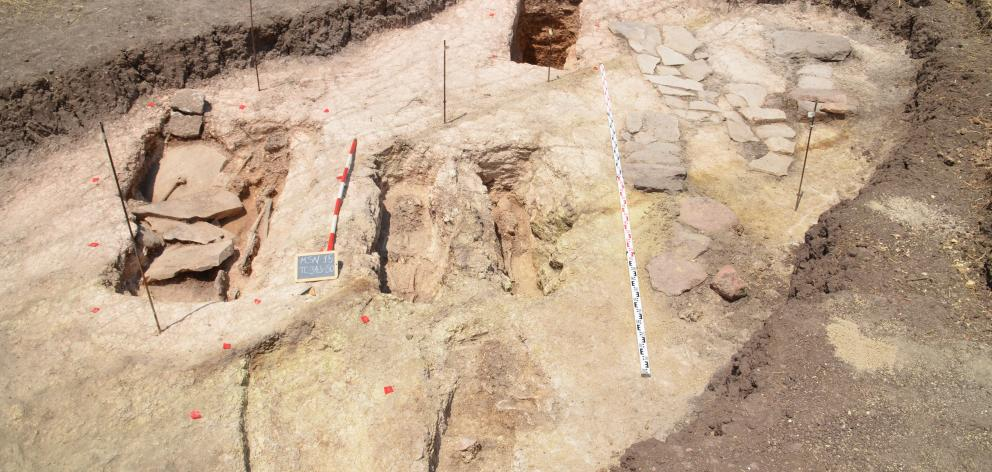 The excavation area at Monte Sirai in Sardinia, Italy. Photo: supplied