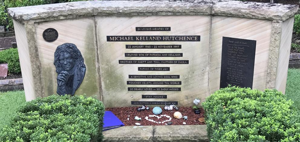 Memorial to Michael Hutchence at Northern Suburbs Crematorium, North Ryde, New South Wales,...