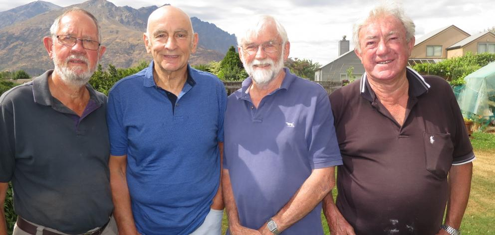 Quail Rise residents (from left) Ken Griffiths, Ian Ross, David Hay and Jim Buckham are sick of...
