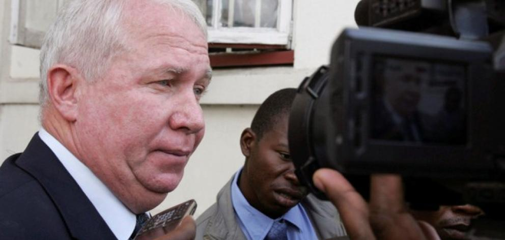 Roy Bennett, treasurer general in Tsvangirai's Movement for Democratic Change (MDC) party, arrives at court in Harare. Photo: Reuters