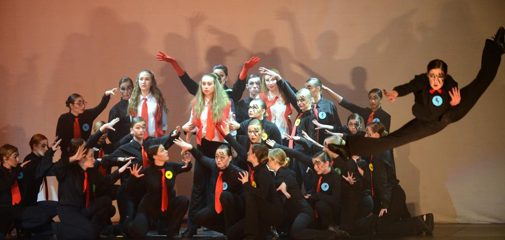 Bayfield High School preform during the Secondary Schools 2015 Stage Challenge at the Edgar Centre. Photo: Peter McIntosh