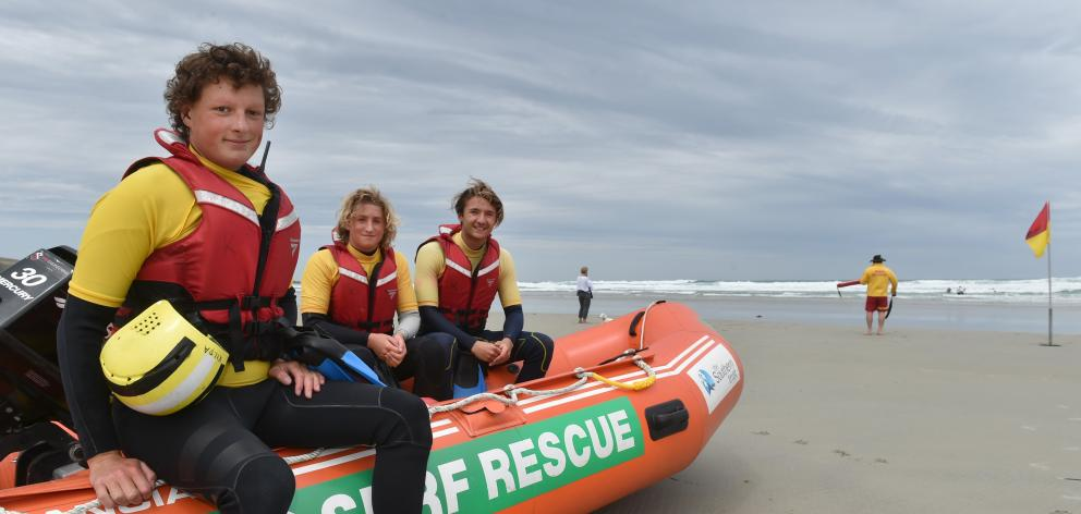 Starting the first surf patrol at Tomahawk Beach in about 50 years last weekend were boat crew ...
