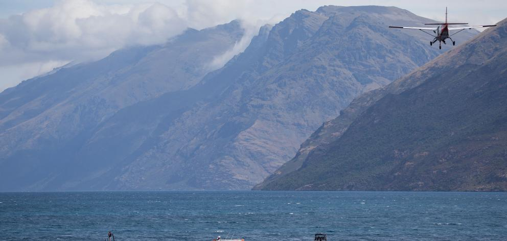 Search and rescue operation taking place on Lake Wakatipu. Photo: James Allan