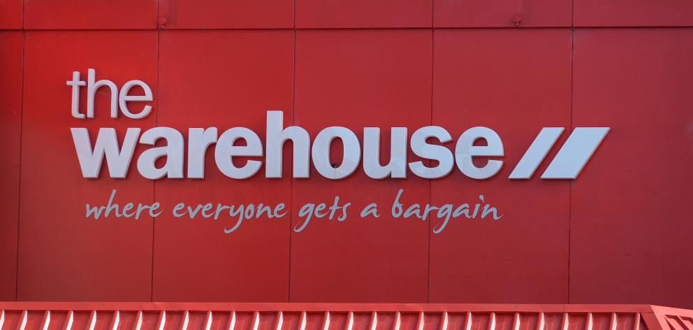The Warehouse Group says its latest trading figures show encouraging signs. Photo: ODT