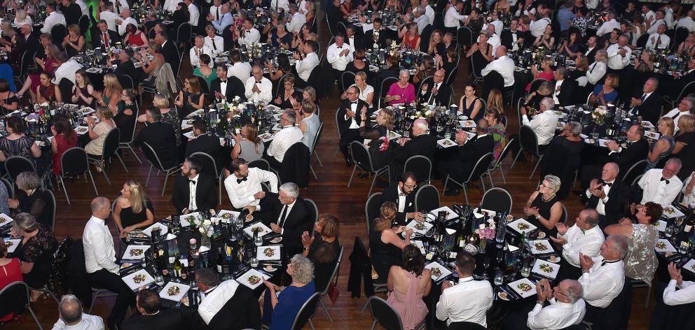 The black-tie fundraising dinner for the Otago Medical Research Foundation at the Dunedin Town Hall.