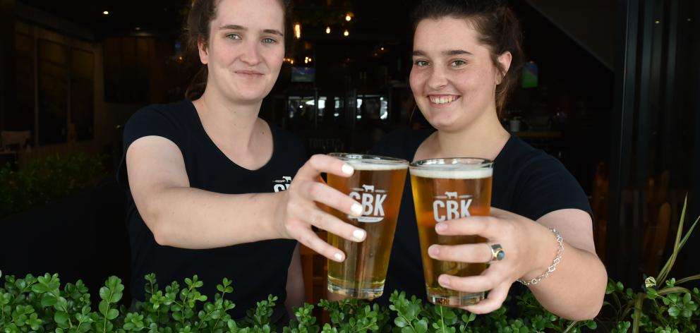 Craft Beer and Kitchen bartenders Orla Ni Bhearra (left) and Ciara Fitzsimons raise a glass to...
