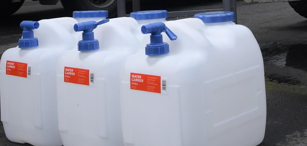Emergency water supplies were provided during last year's Ross Creek  contamination in Dunedin....