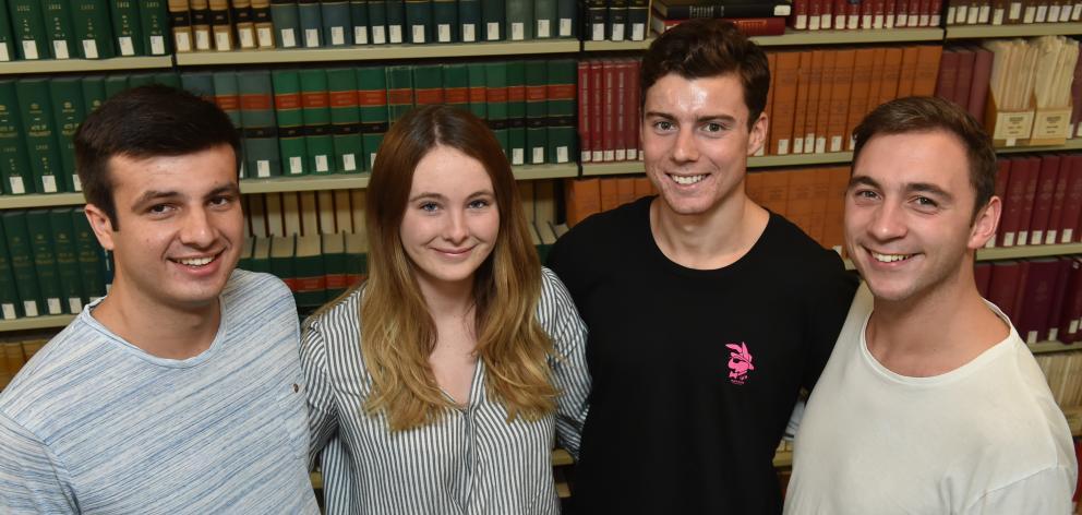 University of Otago mooters (from left) Patrick O'Boyle, Olivia Klinkum, Matthias Schorer and...