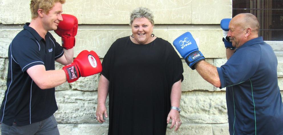 Milligans Food Group business manager Joseph Paton (left), Oamaru restaurateur Sally-Ann Donnelly...