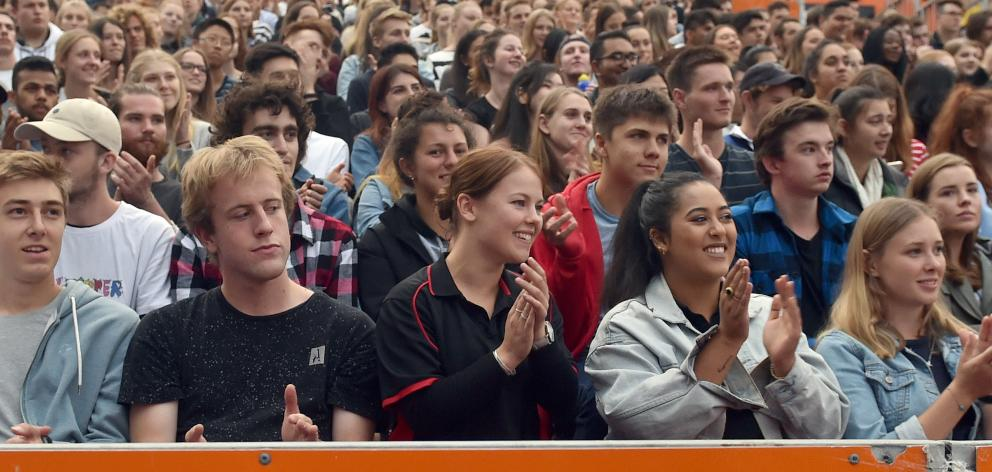 Part of Ms Ardern's attentive audience. PHOTOS: PETER MCINTOSH