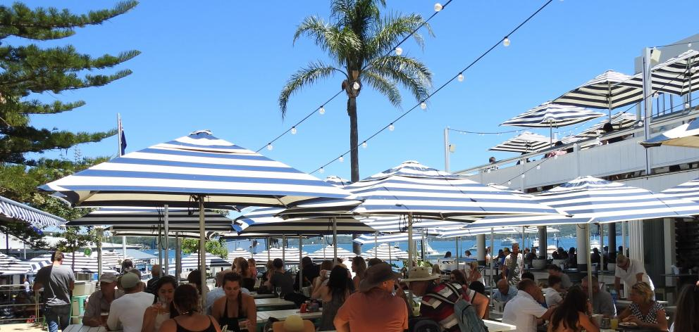 Diners enjoy the shade at Watson's Bay Boutique Hotel. PHOTOS: LOUISE FRAMPTON