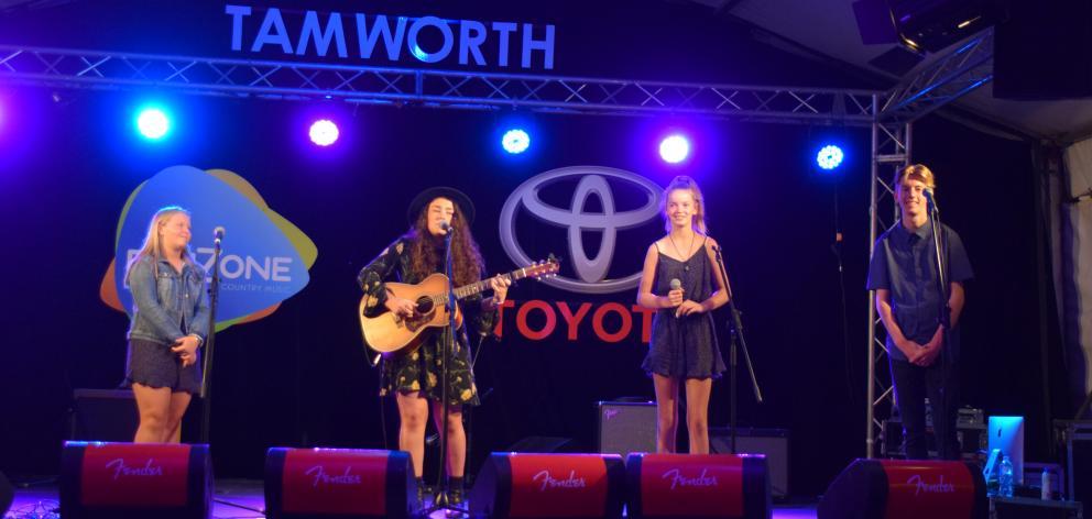 New Zealand trio MAC, Michelle Hendriks (left), of Gore, and Dunedin siblings Alyssa (12, second...