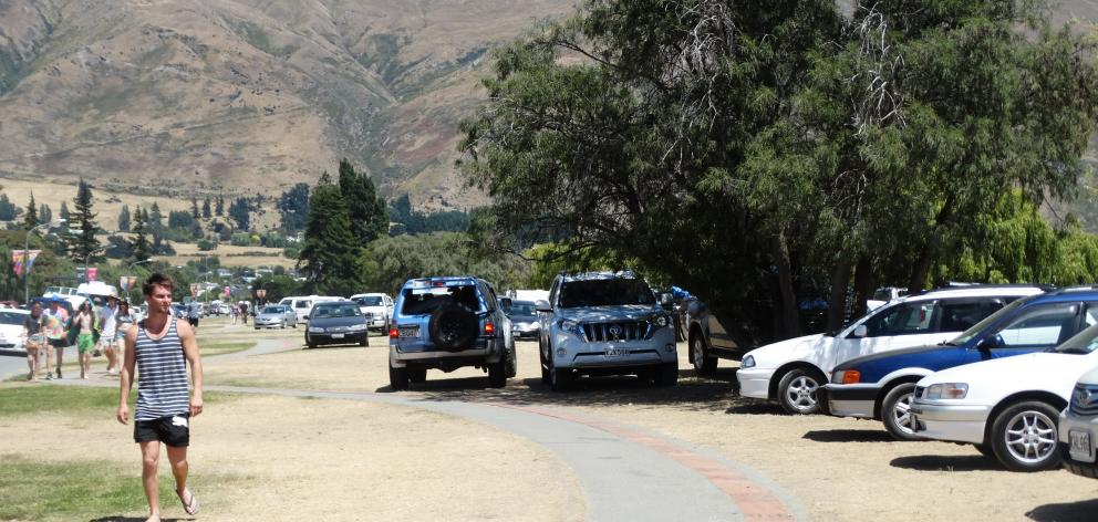Wanaka's parking issues returned over New Year,  when  grassed areas became  overflow car parks....