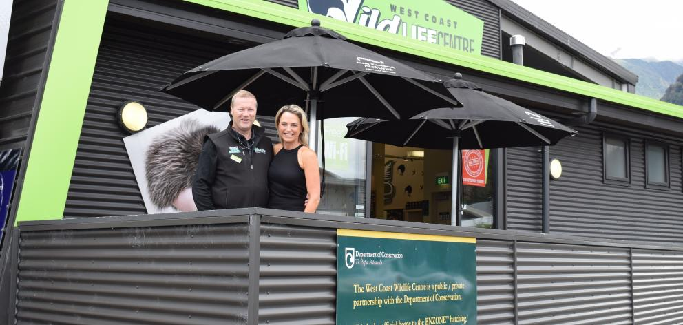 West Coast Wildlife Centre owner-director Richard Benton and his wife, Sherilee,  on the cafe...