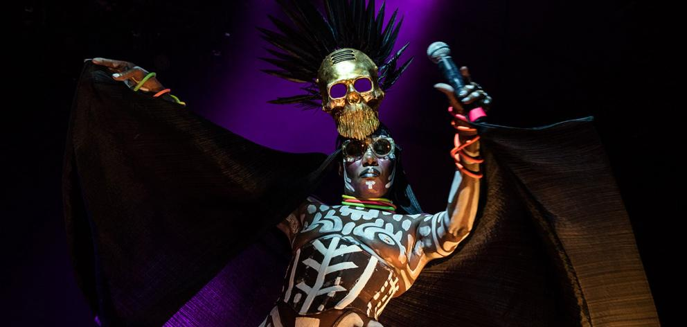 Singer-songwriter Grace Jones performs at her first New Zealand show in Queenstown on Friday....