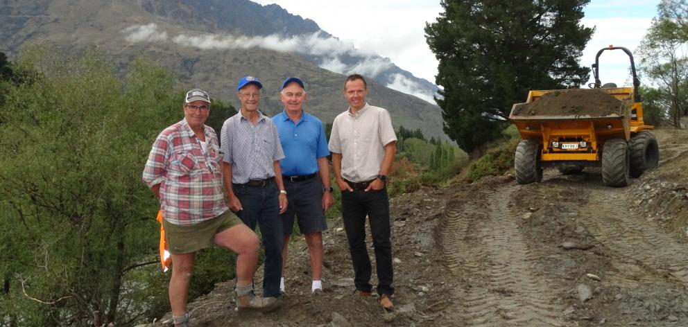 Work kicked off last week (from left) Murray 'Muz' McBain, Kerry Dunlop, John Thompson and Mark Williams. Photo: Mountain Scene