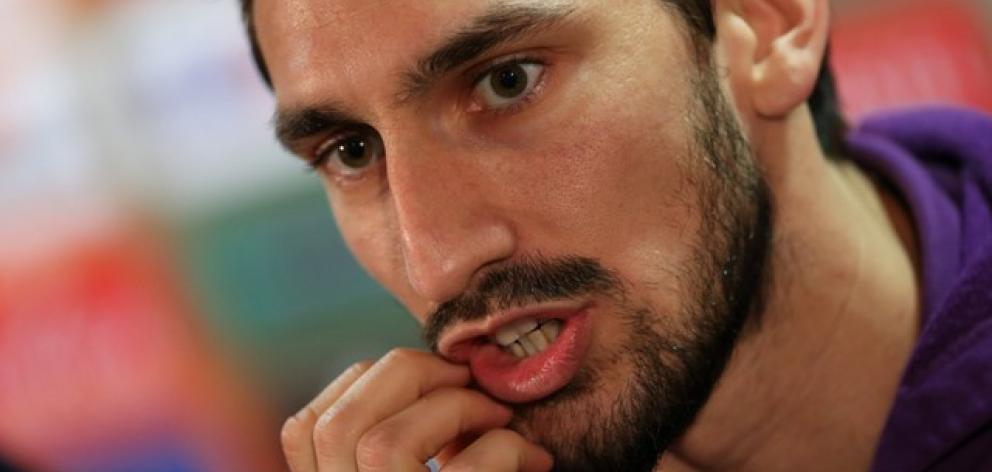 Fiorentina captain and Italy international Davide Astori. Photo: Reuters