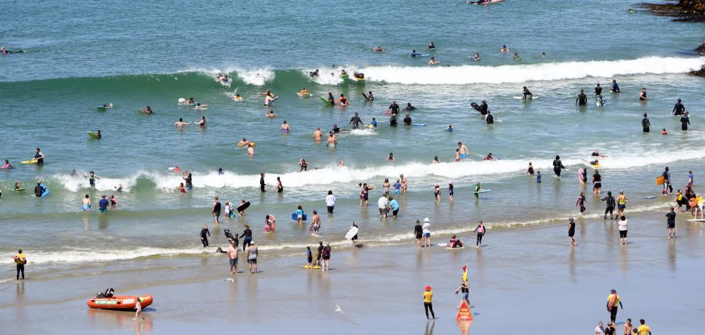 Locals flocked to Brighton Beach yesterday, in what may well be the last hot day of this summer....