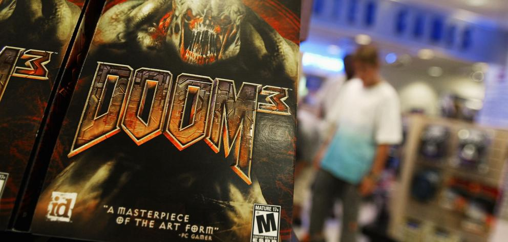 First-person shooter videogame 'Doom 3' which is owned by ZeniMax Media Inc. Photo: Getty Images