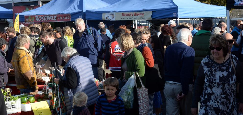 The Otago Farmers market is celebrating it's 15th birthday this year. Photo: Linda Robertson