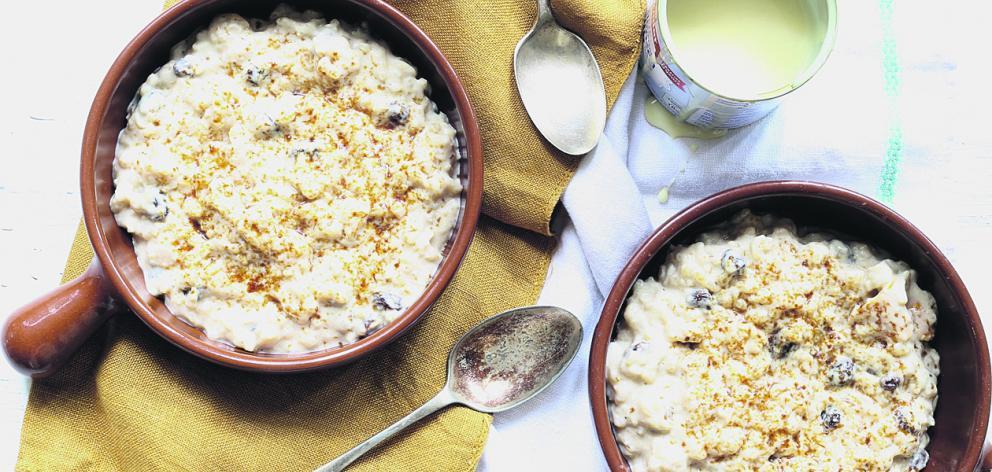 Latin style rice pudding.