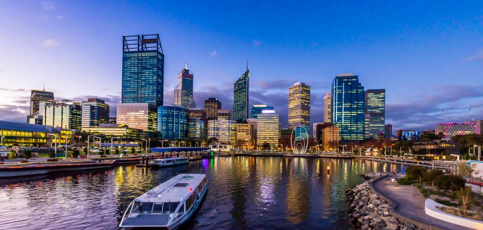 Elizabeth Quay in Perth, where the Swan River meets the southwest coast. Photo: Getty