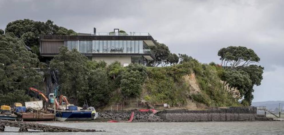 The property at 64 Sentinel Road in Herne Bay had one of the most expensive price tags in the last five years. Photo: NZ Herald