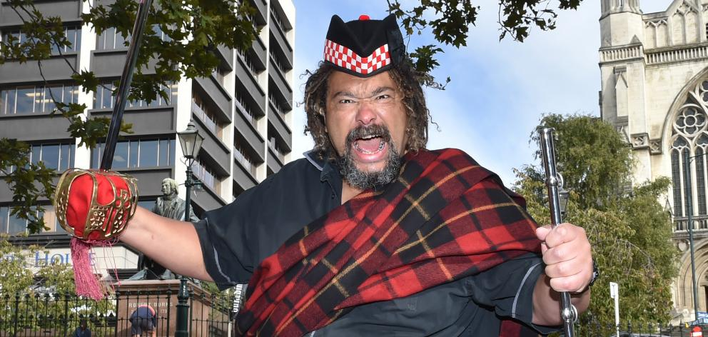 Scottish comedian Bruce Fummey plans to cut loose on Shakespeare's Macbeth this week. Photo: Gregor Richardson