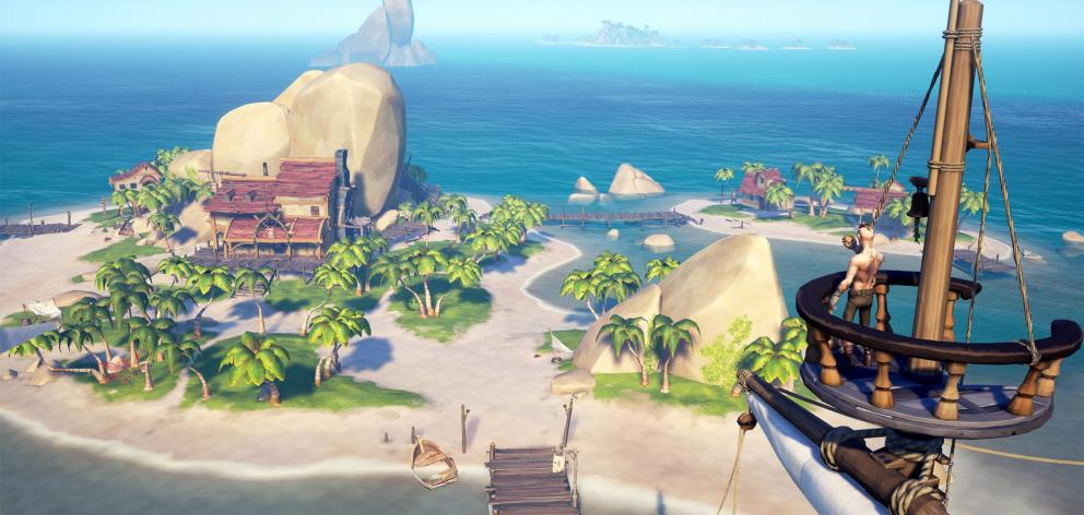 Sea of Thieves, the latest offering from Rare, gives you a ship, an eye patch and a cutlass and lets you do exactly that. Photo: supplied