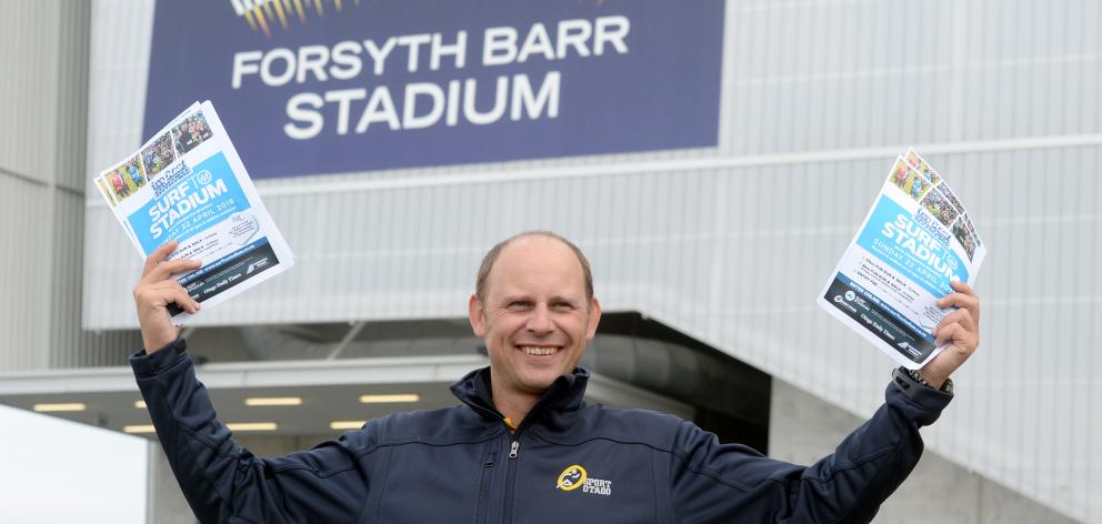 Sport Otago business development and events manager Michael Smith at Forsyth Barr Stadium. Photo:...