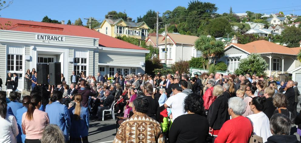 The Caversham community welcomes its new community health centre, Te Kaika, with a large opening ceremony on its College St premises yesterday. Photo: Christine O'Connor