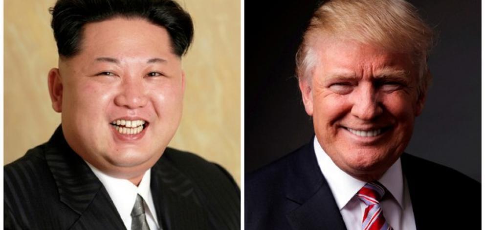 North Korean President Kim Jong-Un (left) and US President Donald Trump. Photo: Reuters