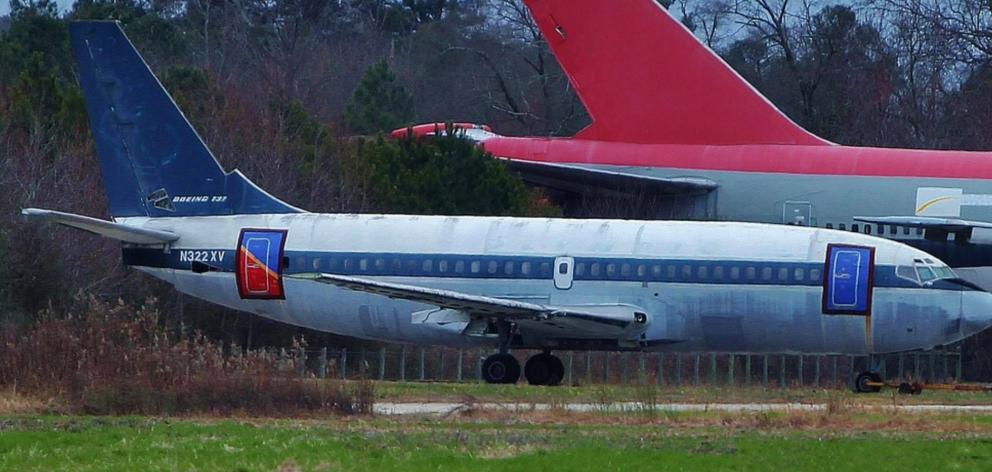 New Zealand's first commercial jet, a Boeing 737 that belonged to the New Zealand National...