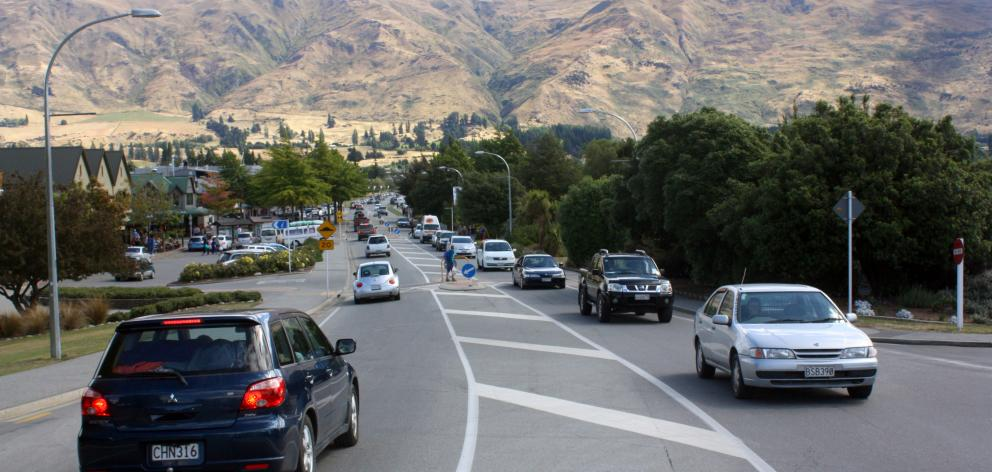 The growing number of residents and tourists has meant at times traffic on Wanaka's Ardmore St...