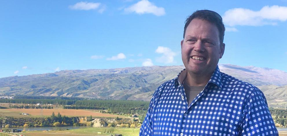 James Dicey, from Mt Difficulty Wines, says the landscape around Bannockburn has been transformed...
