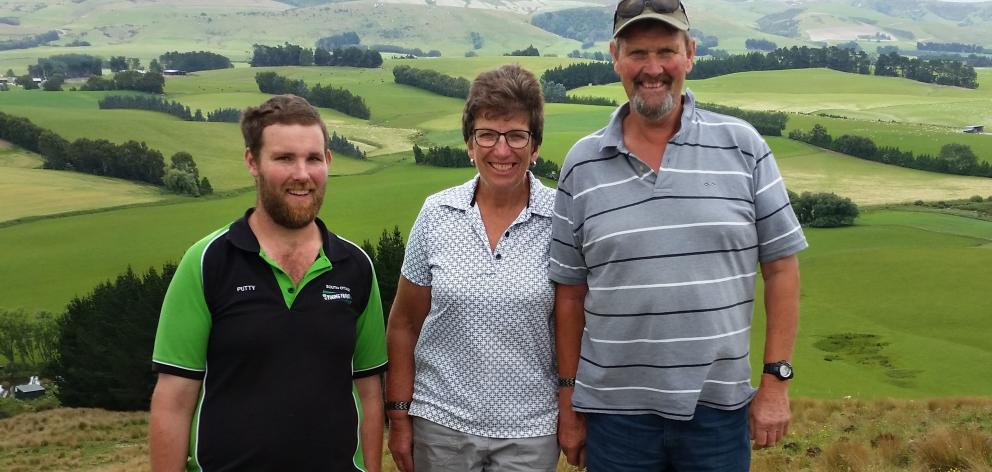 Waipahi sheep farmers Logan, Alexa and Ross Wallace at home on the farm. Photo: Supplied