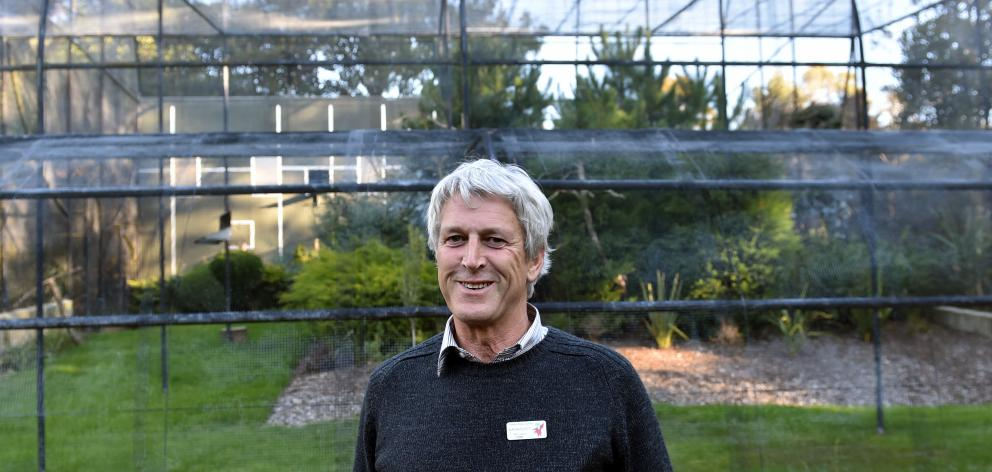 Dunedin Botanic Garden team leader Alan Matchett says an empty aviary in the garden, once a...