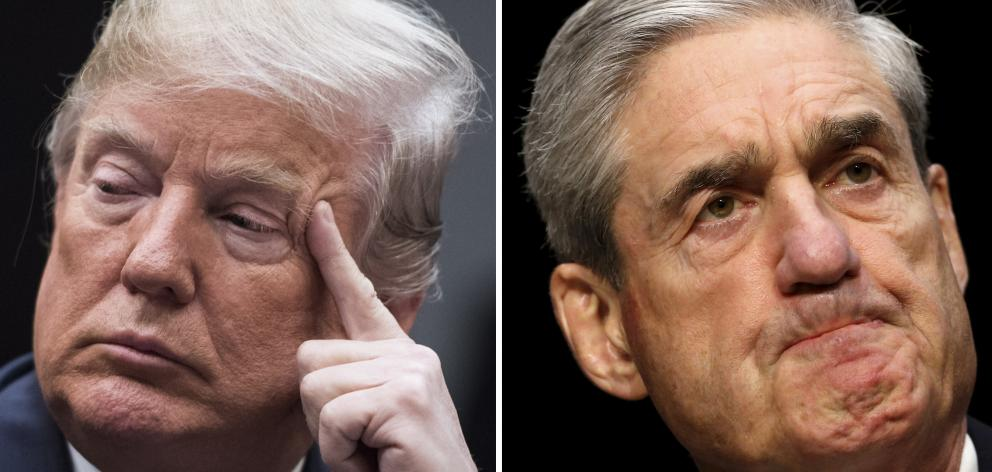 US President Donald Trump and Special Counsel Robert Mueller. Photo: Getty Images