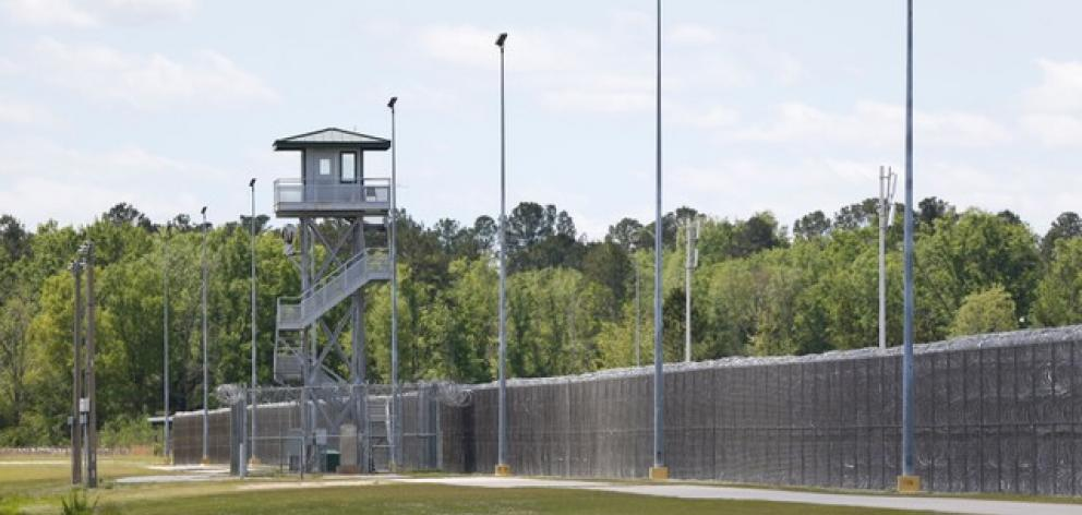 A guard tower is seen at the Lee Correctional Institution in Bishopville. Photo: Reuters