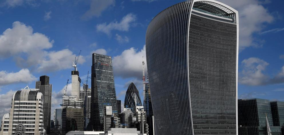 "Kent Gardner, who has had some of London's iconic landmark buildings, including  ""The Gherkin"" (centre) in his property portfolio. Photo: Reuters"