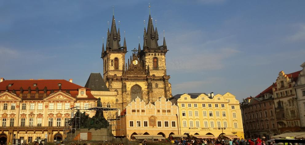 Prague, nicknamed the City of a Hundred Spires, is known for its Old Town Square, with colourful...