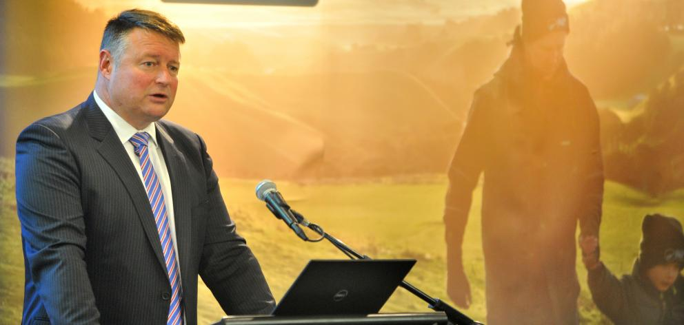 Chairman Rob Hewett addresses the Silver Fern Farms Co-operative  annual meeting in Dunedin...