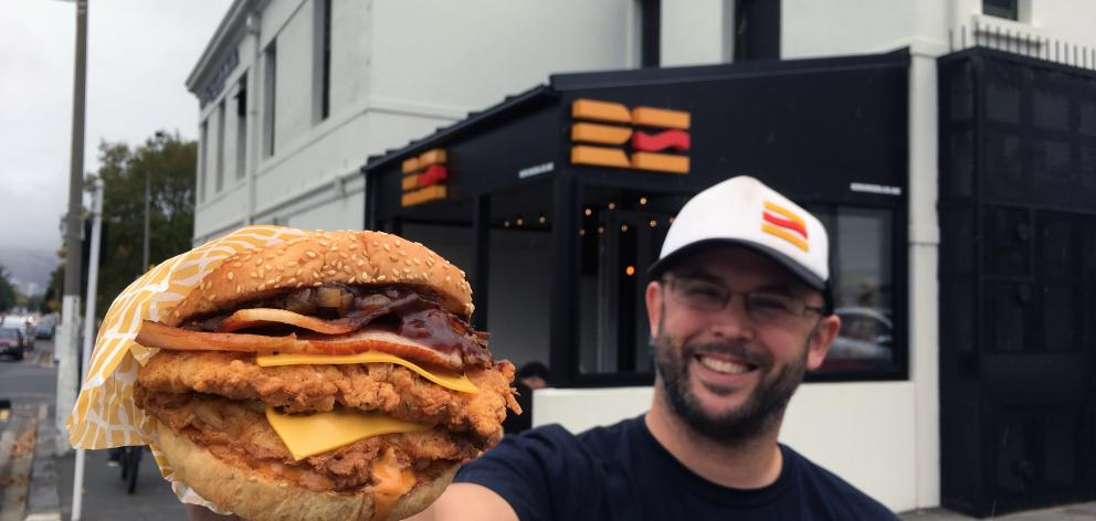 Dunedin's Re:Burger, in Albany St, ranked at number nine on the list. Photo: Allied Press
