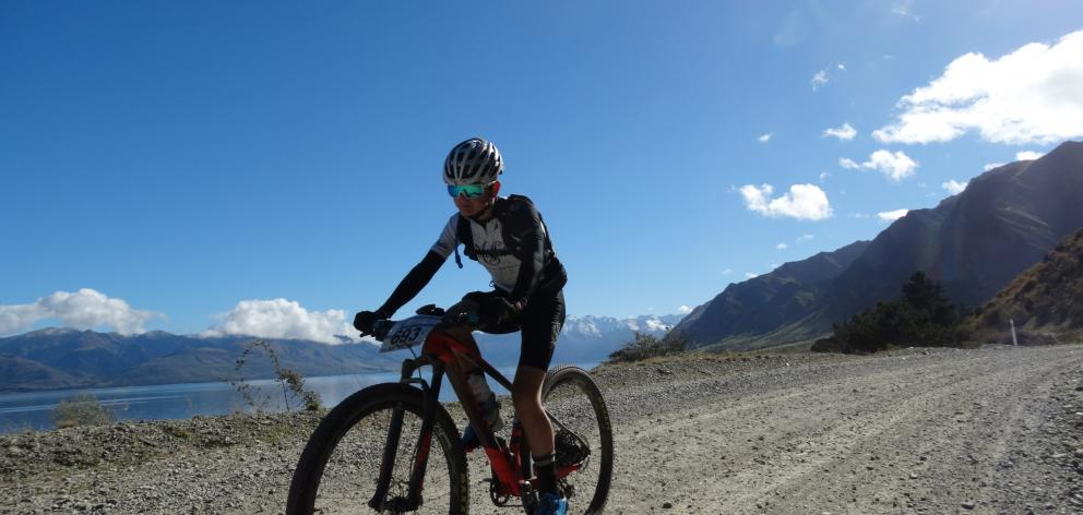 Ethan Rose, of Coalgate, rides to seventh place in the 95km Contact Epic Classic race on Saturday...