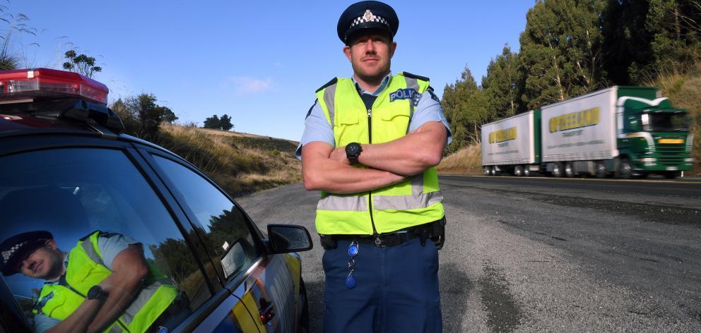 The road ahead . . . New Otago Coastal team leader road policing Senior Sergeant Jared Kirk is...