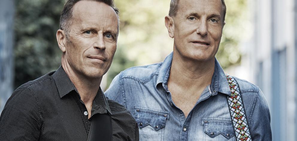 Australian rock musicians Mark Seymour and James Reyne. Photo: supplied