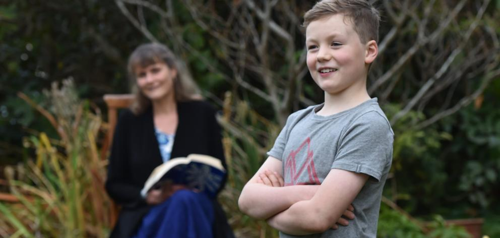 Zac Baillie, reflects on life with his mum, poet and writer Emma Neale. PHOTO: PETER MCINTOSH