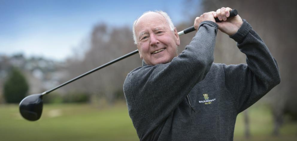 Golfer Corran Munro has shot his age or better 79 times and wants to make it 80 before his 80th birthday. Photo: Gerard O'Brien
